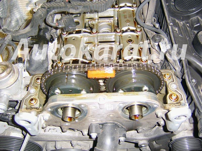 Замена цепи ГРМ в двигателе